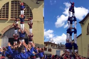 Els Castellers de Berga estrenen gent a Esparreguera i es preparen per fer un salt en les properes actuacions