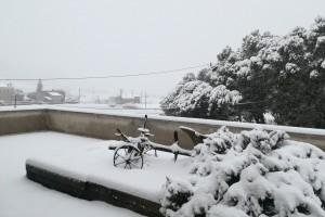 La neu torna a caure al Berguedà per segon cop en menys de dos mesos