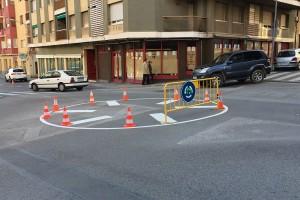 La intersecció del Bon Joc, de Berga, es converteix en una rotonda