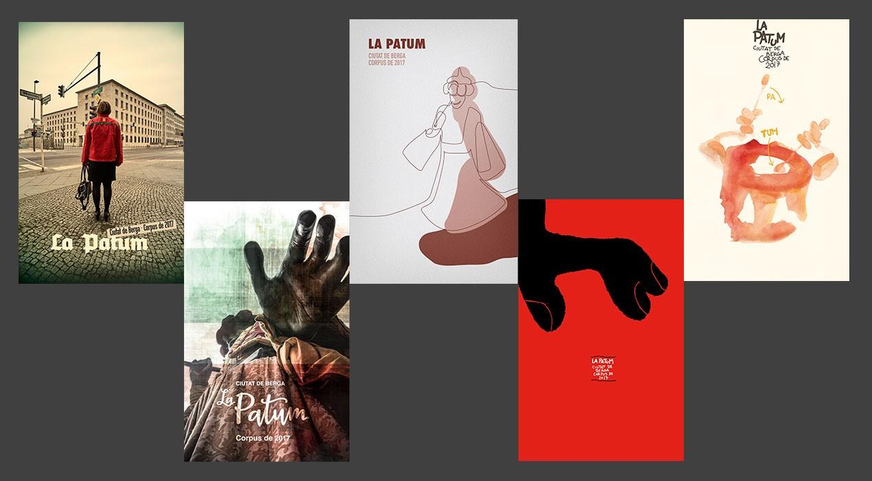 S'obre la votació per escollir el cartell anunciador de La Patum 2017 entre els cinc finalistes