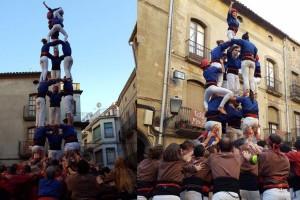 Els Castellers de Berga alcen un nou castell de 7 a Guissona i segueixen madurant com a colla