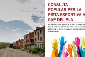 Gironella organitza una consulta popular per decidir el lloc on es farà la pista esportiva del Cap del Pla