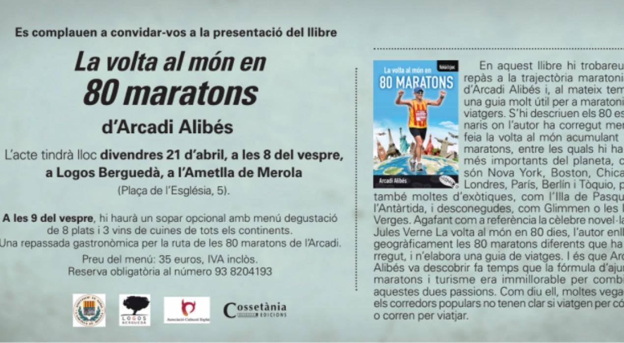 """Presentació llibre """"La volta al món en 80 maratons""""."""