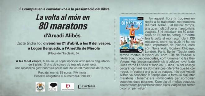 """Presentació llibre """"La volta al món en 80 maratons"""". @ Logos Berguedà (l'Ametlla de Merola)"""