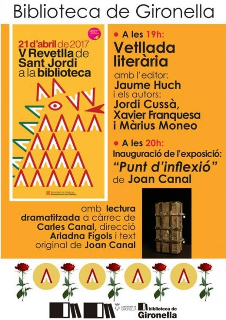 Revetlla de Sant Jordi a la Biblioteca de Gironella @ Biblioteca de Gironella
