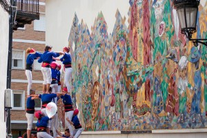 Els Castellers de Berga descarreguen amb l'ai al cor el primer 4 de 7 amb agulla de l'any