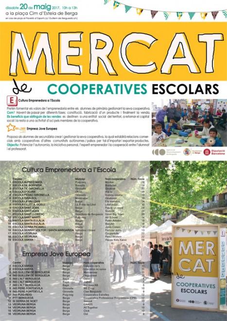Mercat de cooperatives escolars @  Plaça Cim d'Estela (Passeig de la Indústria - BERGA)