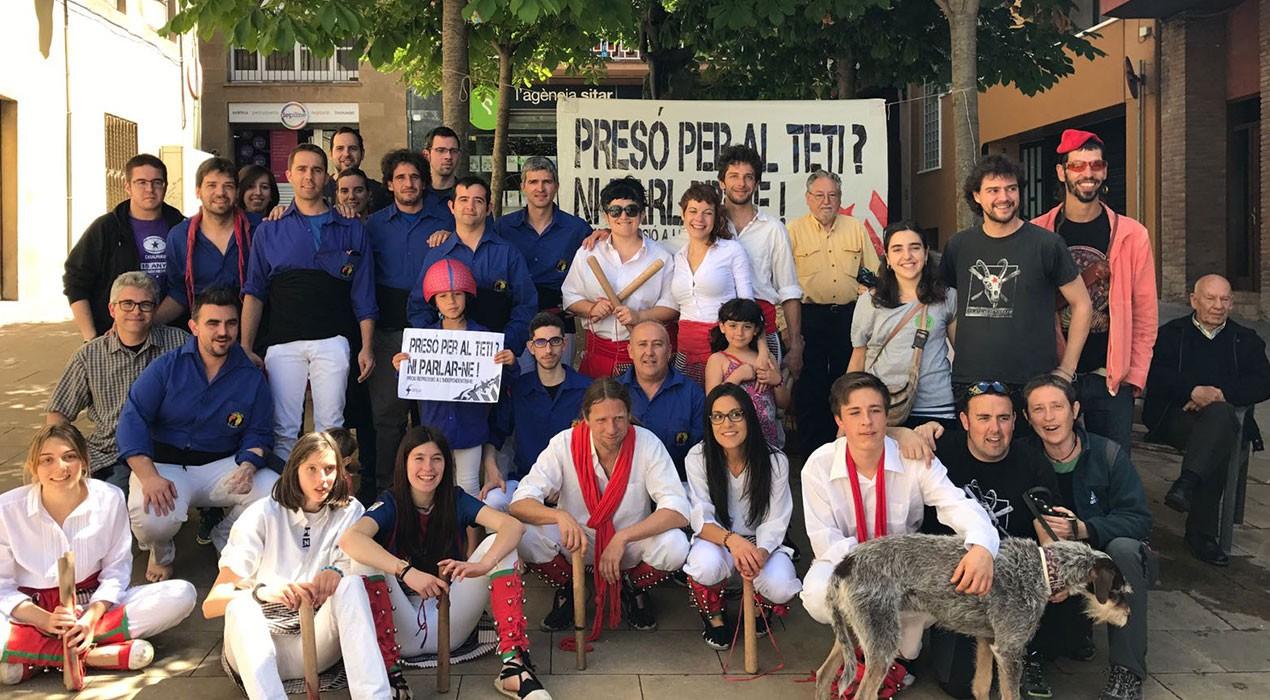 Diversos col·lectius de Berga reivindiquen la llibertat del Teti en un dissabte de cultura i concerts