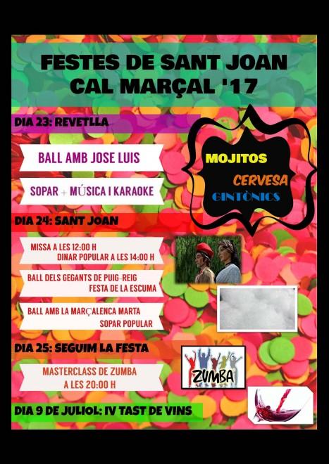 Festes de Sant Joan de Cal Marçal @ Cal Marçal (PUIG-REIG)