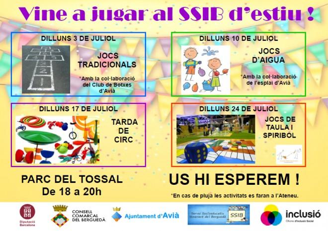 Vine a jugar al SSIB d'estiu a AVIÀ! @ Parc del Tossal (AVIÀ)