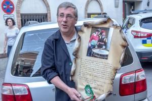 El tabaler de la Patum aprofita la diada dels Quatre Fuets per homenatjar Jordi Camps i Bessa