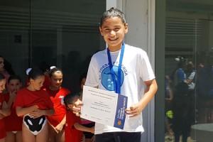 La berguedana Sheila Garcia, campiona de Catalunya de natació sincronitzada en figures