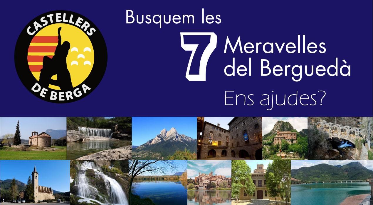 Els Castellers de Berga i l'AquíBerguedà busquen les 7 meravelles del Berguedà per fer-hi 7 pilars