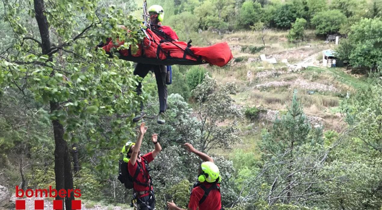Els Bombers de la Generalitat demanen extremar les precaucions al medi natural