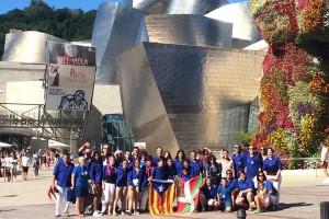 Els Castellers de Berga actuen a l'Aste Nagusia de Bilbao