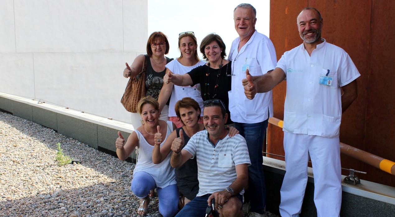 El comitè de treballadors de l'Hospital Comarcal celebra el canvi de gestió