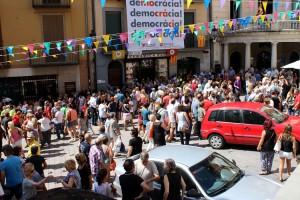 300 persones participen dels cinc minuts de silenci per l'atemptat terrorista de Barcelona a Berga