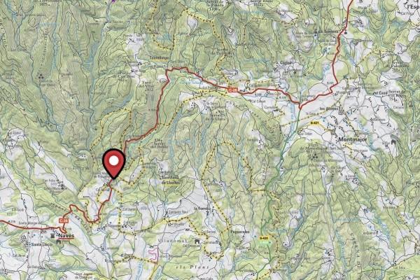 Mapa Accident Montmajor