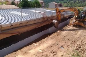 Duen a terme obres per a acabar amb les humitats a l'escola de La Valldan