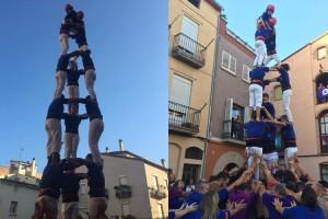 Els Castellers de Berga descarreguen a Artés el primer castell de 7 després de les vacances