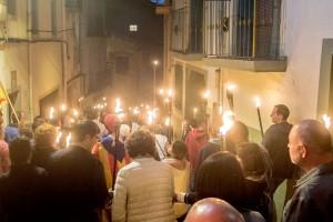 La Marxa de Torxes de Berga presenta una campanya que explicarà els motius del Sí arreu del Berguedà