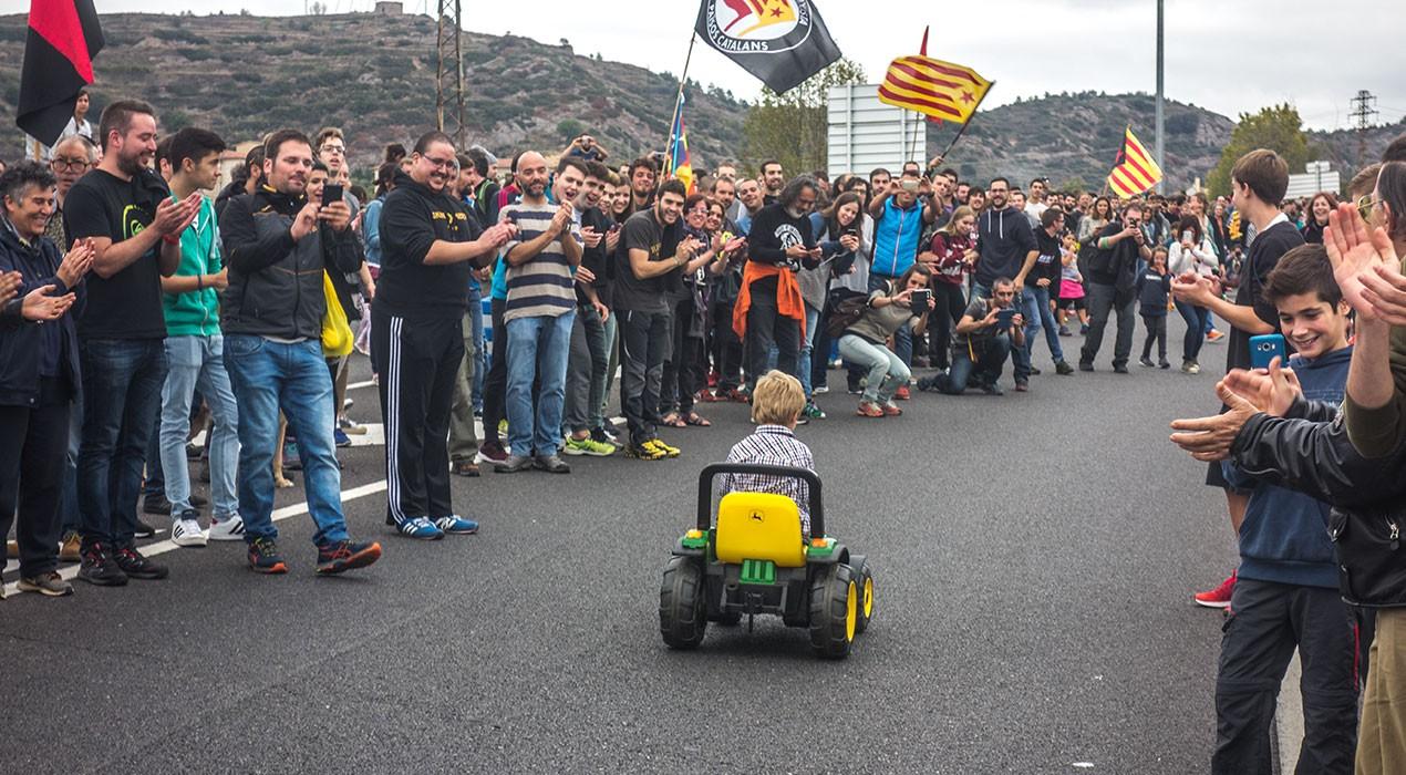 L'aturada general del 3-O al Berguedà, en imatges