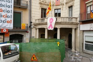 Comencen les obres a la teulada de l'Ajuntament de Berga, que estarà enllestida a principis del 2018