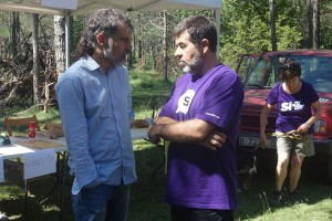 Allau de reaccions dels berguedans a les xarxes arran de l'empresonament de Sànchez i Cuixart