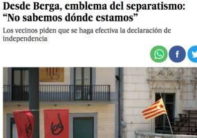 """Berga, un """"emblema del separatisme"""", segons el País"""