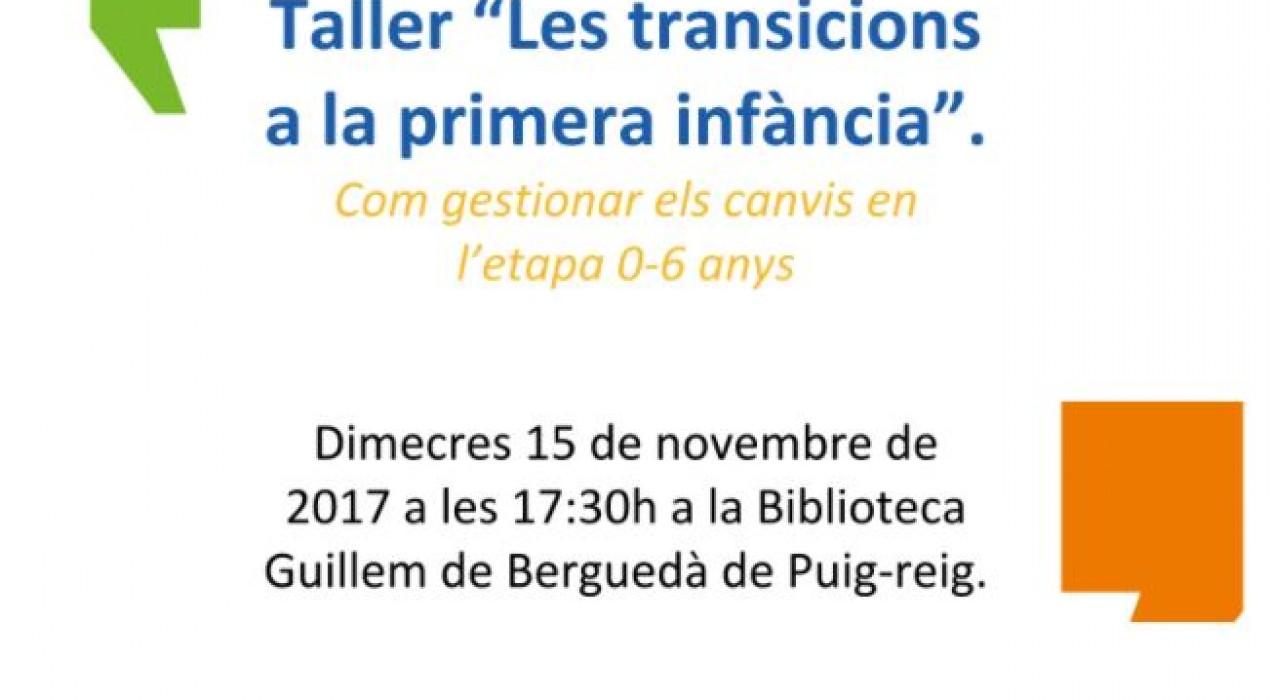 """Taller """"Les transicions a la primera infància"""""""