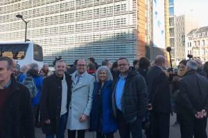 Quatre alcaldes del Berguedà viatgen a Brussel·les per demanar la llibertat dels presos polítics