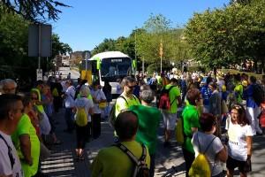 Un miler de persones omplen autocars a Berga, Gironella i l'Alt Berguedà per baixar a la Diada per la Llibertat