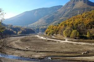 El pantà de la Baells reflecteix la tardor més seca dels darrers deu anys