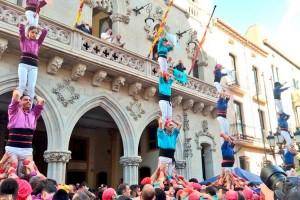Els Castellers de Berga tanquen temporada a Terrassa amb pilars per la llibertat