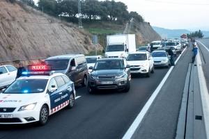 El Berguedà i el Bages col·lapsen més de 70 quilòmetres de C-16 per exigir la llibertat dels consellers