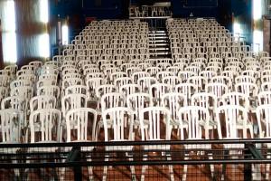 El teatre de l'Ametlla encara un altre Nadal de Pastorets entre cadires de plàstic