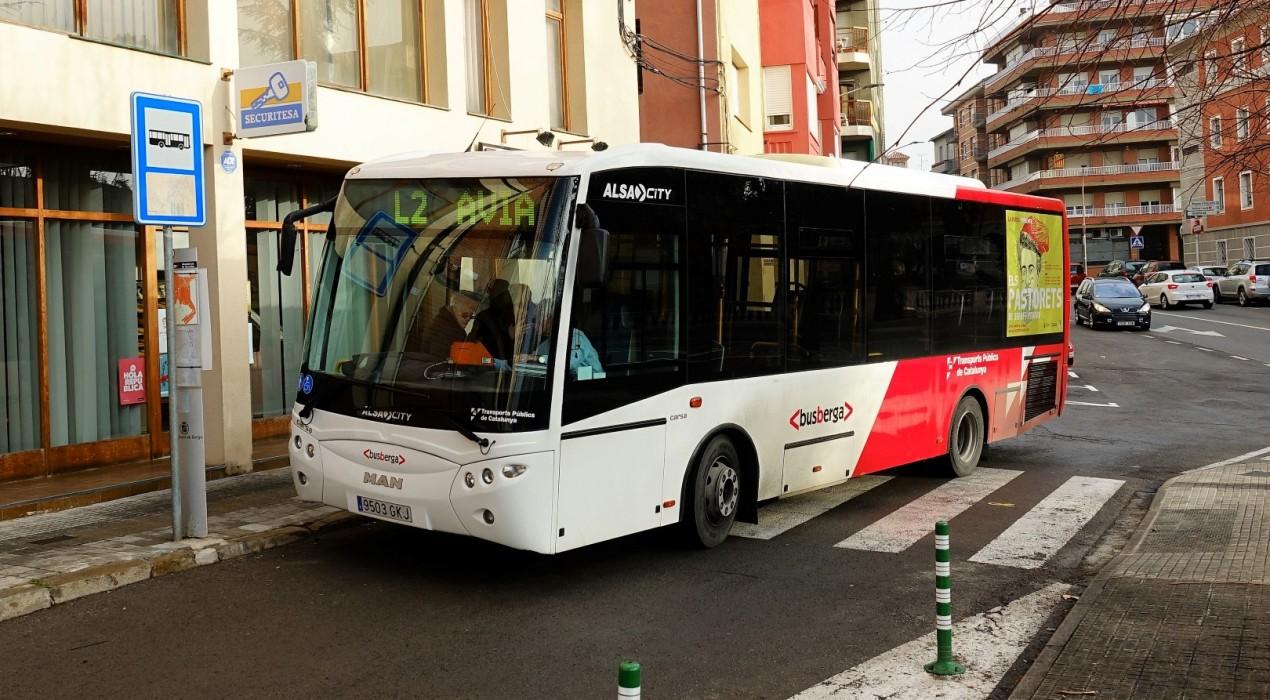 El bus urbà de Berga tanca el 2017 amb més de 41.000 viatgers