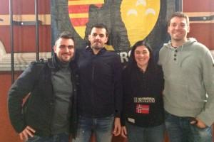 Ignasi Ballús i Xisco Bonet, nous president i cap de colla dels Castellers de Berga