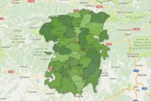 Els mapes de la participació final al Berguedà