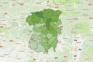 Els mapes de la participació a les 13h