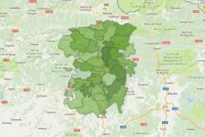 Els mapes de la participació a les 17h