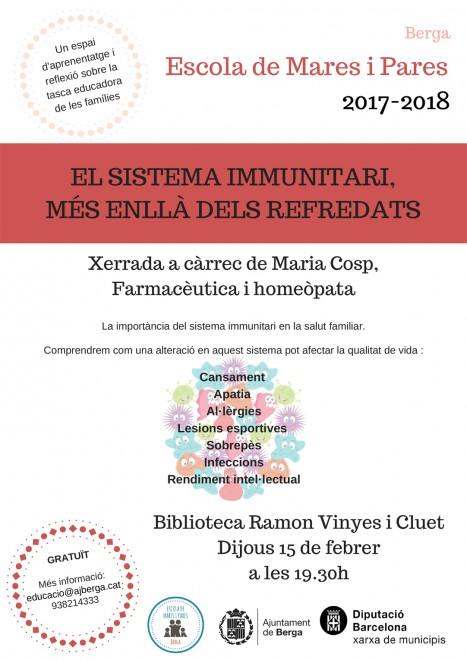 Xerrada: El sistema immunitari, més enllà dels refredats. @ Biblioteca Ramon Vinyes i Cluet (BERGA)