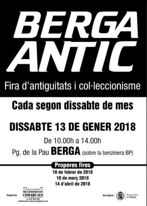 Berga Antic - gener 2018 @ Passeig de la Pau (BERGA)