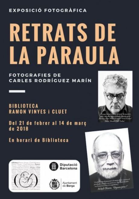 Exposició: Retrats de la paraula @ Biblioteca Ramon Vinyes i Cluet (BERGA)