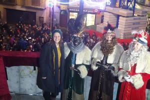 Els Reis Mags es recorden dels refugiats a la cavalcada de Berga