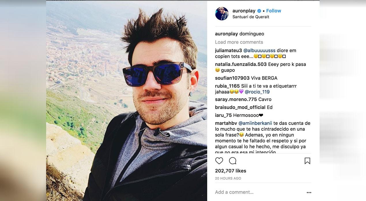 El famós youtuber AuronPlay, al santuari de Queralt