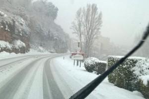 El segon episodi de nevades fa posar cadenes a tota la C-16 al Berguedà