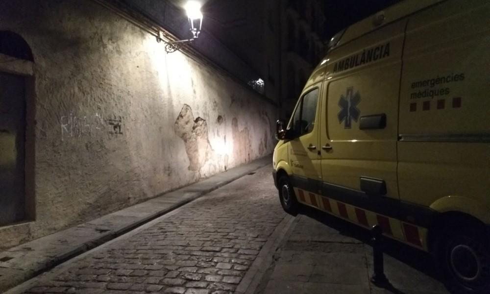 El carrer de la Pietat, acordonat pel crim de Manela Quesada