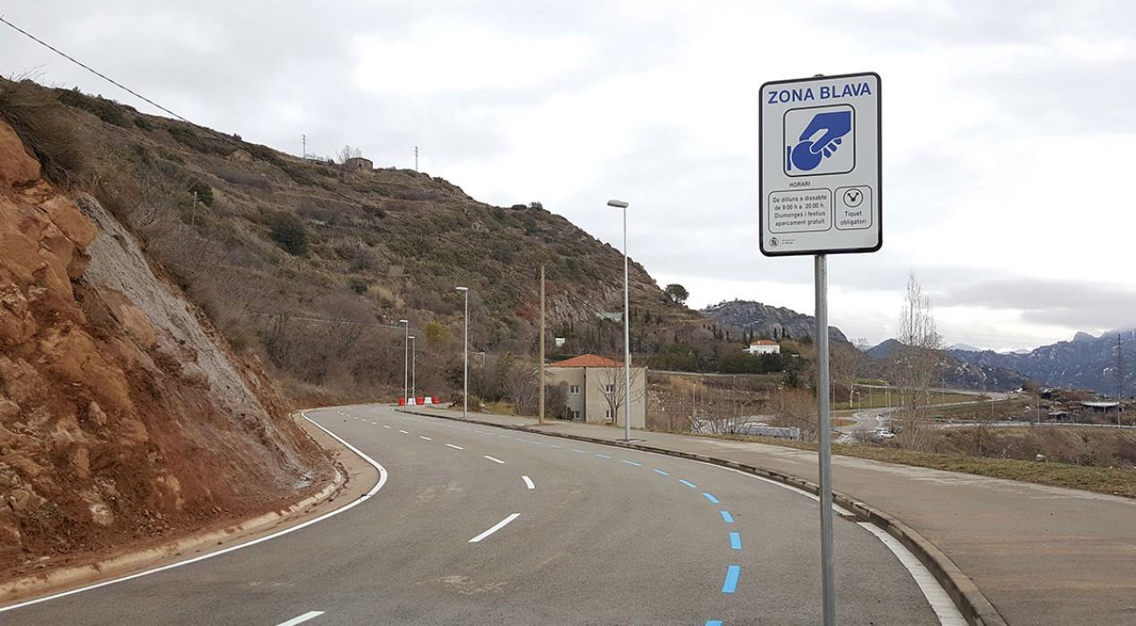 Inauguren 42 aparcaments en zona blava de tarifa reduïda a l'Hospital Sant Bernabé de Berga