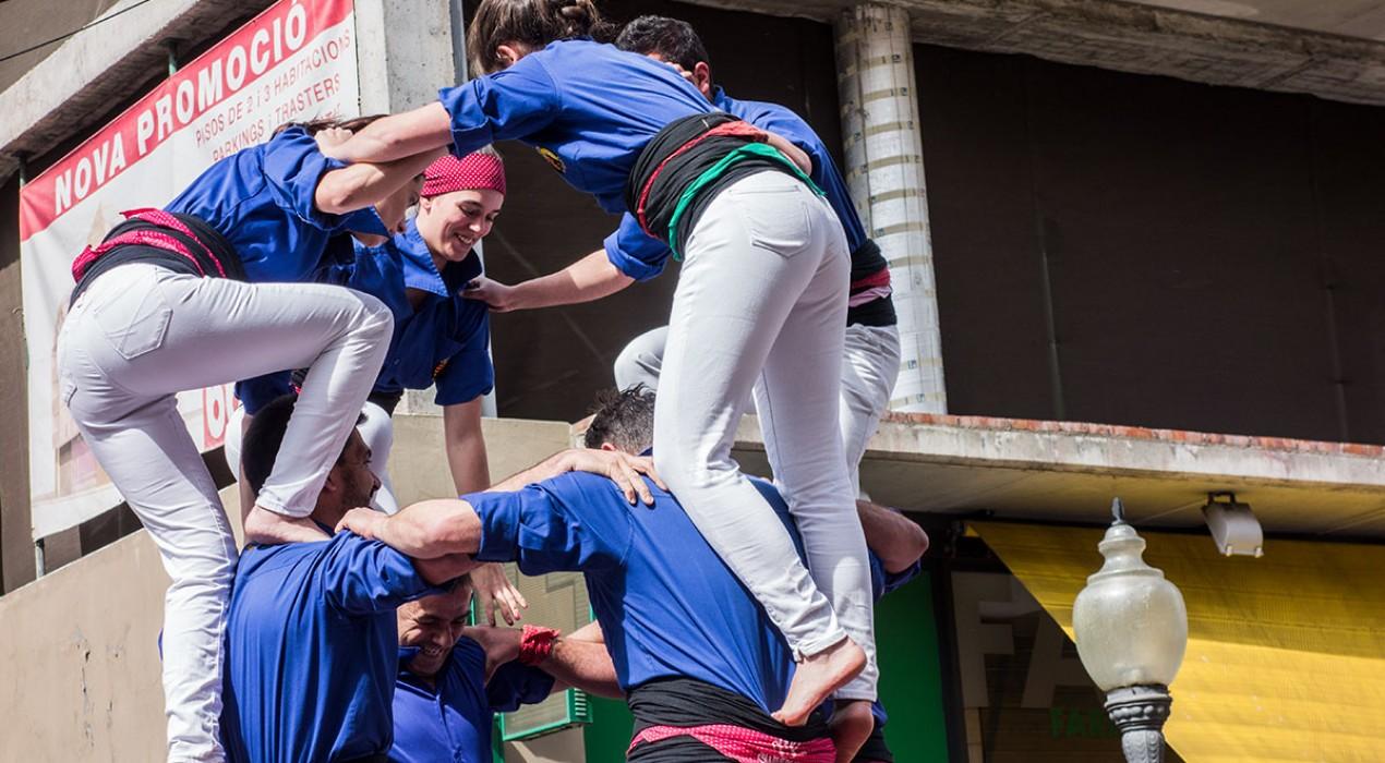 Els Castellers de Berga descarreguen el tercer 3 de 7 de la temporada en la diada clàssica a Navàs